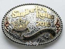 2015 Sundre Pro Rodeo HeelerChampion Belt Buckle GIST Sterling SIlver Overlay
