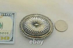 2.5 X 2 Dazzling Classic Oval Concho BELT BUCKLE Navajo Sterling Silver