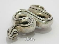 5.5 in Sterling Silver B. Kieselstein-Cord Vintage Python Belt Buckle