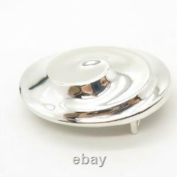 925 Sterling Silver Vintage Robert Lee Morris Modernist Wrinkled Belt Buckle