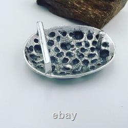 925 Sterling Silver skull men's belt buckle buckles jewelry DIY accessory S1446