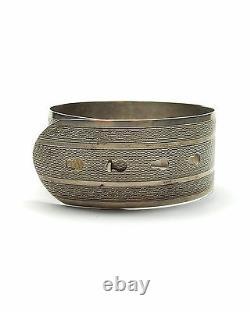 Antique Silver Charles Horner Bangle Bracelet Belt Buckle Sterling 1945 HM 32g
