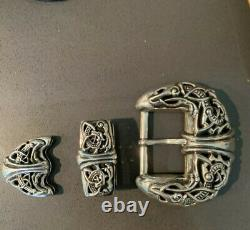 Authentic Chrome Hearts Large Belt Buckle. 925 Sterling Silver