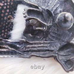 Barry Kieselstein-Cord $1,890 Sterling Silver Alligator Buckle & Brown Belt