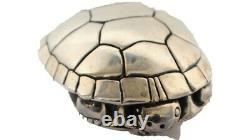 Barry Kieselstein Cord Sterling Silver Large Turtle Belt Buckle