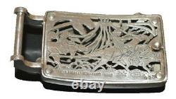 Barry Kieselstein Cord T-Rex Dinosaur Sterling Silver Buckle Belt SZ 5