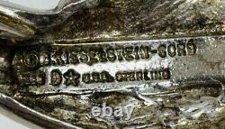 Barry Kieselstein Cord Vintage Sterling Silver Man in the Moon Belt Buckle