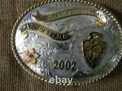 Cheyenne Frontier Days 2002 Daddy of them all Gist Buckle Sterling Silver Stone