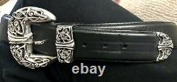 Chrome Hearts Belt With Sterling Silver Gothic Hardware 36