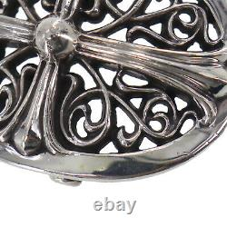 Chrome Hearts Cross Belt Buckle Silver 1989/00 sterling Vintage Auth #QQ366 O