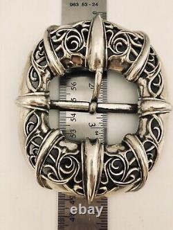 Chrome Hearts authentic sterling silver xtra Larg Belt buckle