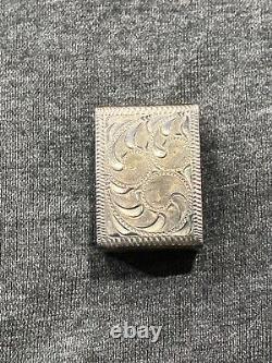 Edward H. Bohlin Vintage Cheyene Buckle Set Sterling Silver 1 Inch Ranger