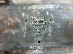 Edward H. Bohlin Vintage Sterling Silver And 14k Gold Longhorn Belt Buckle