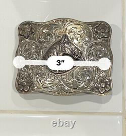 Edward H. Bohlin Vintage Sterling Silver Western Horse Whisperer Belt Buckle