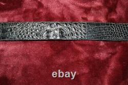 Falconhead Vintage Alligator Belt with Sterling Buckle size 34