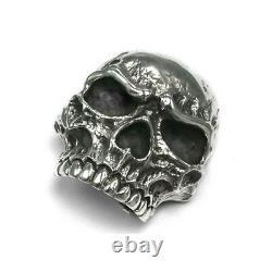 Gorgeous Wild Skull Belt Buckle Sterling Silver. 925 BIKER ROCK Awesome