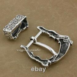 Handmade 925 Sterling Silver Dragon Claw Mens Biker Punk Belt Buckle Gift 9C009D