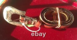 Handmade Early Antique Native American Sterling Belt Buckle Set