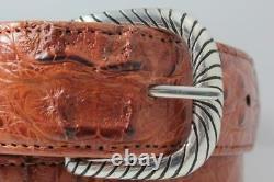 Handmade Sterling Silver (. 925) Belt Buckle Fits a 1.5 inch Belt