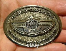 Harley Davidson 100th Anniversary Belt Buckle 925 Sterling Silver inlay 693/2003