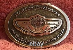 Harley-Davidson. 925 Sterling Silver 100th Anniversary Belt Buckle 1496 of 2003