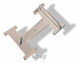 Hermes AG Sterling Silver 925 TOUAREG H 4 Belt Buckle H 32mm, BNIB