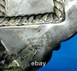 Keyston Bros. Belt Buckle Sterling & 1/10-14K. Gold 1950s California BMW203