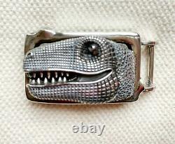 Kieselstein Cord Sterling Silver T Rex Dinosaur Belt Buckle