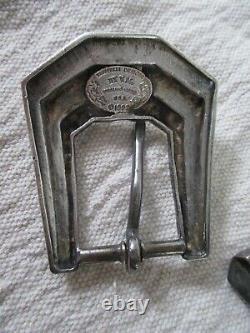 Kokopelli sterling silver art deco cowboy western belt buckle loop tip set