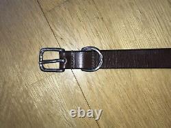 Margaret Howell Nwot Sterling Silver (hallmarked) Buckle Brown Leather Belt
