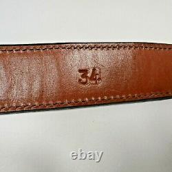 Mens $595 Alligator Leather Belt 14K Gold Texas Star Sterling Silver Buckle 34