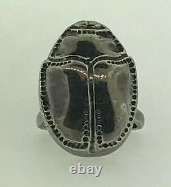 Mignon Faget Sterling Silver 925 Retired Scarab Collection Belt Buckle