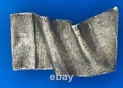 Mignon Faget Sterling Silver 925 Retired Twisted Ribbon Belt Buckle
