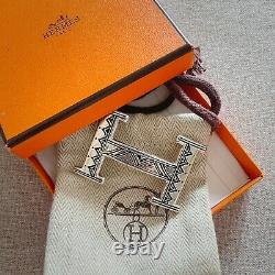 NEW Unisex Hermes TOUAREG 925 Sterling Silver Constance H Belt Buckle 32mm Boxed