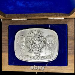 New Sterling Silver Smith Wesson S&W 125th Gun Western Gift Vintage Belt Buckle