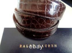 Nwt Ralph Lauren Purple Label Alligator Belt Sterling Silver Buckle. List $1250