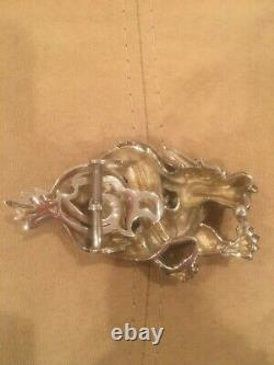 Rare! Kieselstein-Cord Sterling Dragon Buckle