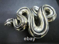 Rare Kieselstein-Cord Sterling Slithering Snake MIDSIZE Buckle
