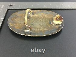 San Carlos Vintage 22K Gold On Sterling Silver Santa Ana Floral Belt Buckle