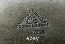 Signed ALC Guadalajara Mexico 925 Sterling Silver Long Horn Steer Belt Buckle