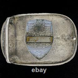 Sterling Silver Volkswagen VW Beetle Bug Badge Emblem 70s Vintage Belt Buckle