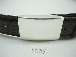 Sterling silver 925, 1 oz engravible buckle for 30 mm belt strap MADE IN U. S. A