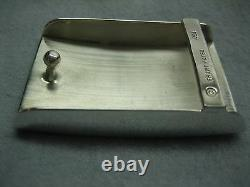 Sterling silver 925, 1 oz engravible or not buckle with 30 mm Genuine lizard belt