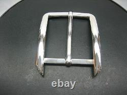 Sterling silver 925 solid buckle 30 grams, for 1-3/8 = 35 mm belt straps U. S. A