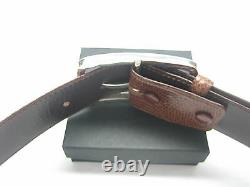 Sterling silver 925 solid buckle 57 grams for 1-3/8 belt strap 5.5 mm thick wall