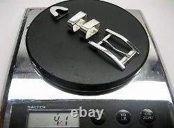 Sterling silver buckle 2 loops and tip set 41 g withGenuine Lizard-1-1/4 to 1belt