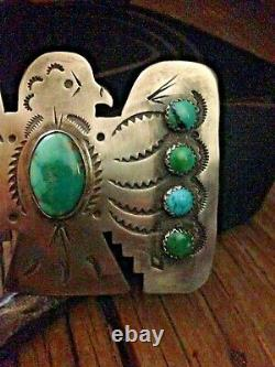 Thunderbird Belt Buckle Sterling Silver with Vintage Royston RRL