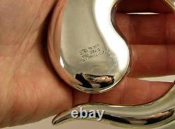 Tiffany & Co 1981 HUGE ELSA PERETTI Sterling Silver Eternal Circle Belt Buckle