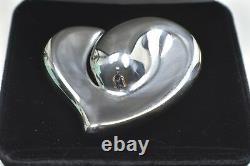 Tiffany & Co Elsa Peretti Lg. Heart Belt Buckle Sterling Silver 1978 Italy RARE