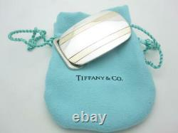 Tiffany & Co. Sterling Silver & 14k Gold Belt Buckle 1 or 25mm Opening A